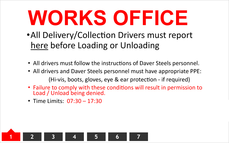 Delivery Instructions - Works Office Notice